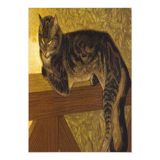 Summer Cat on Balustrade Steinlen Magnetic Card