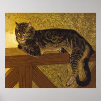 Summer Cat on Balustrade Theophile Steinlen Poster