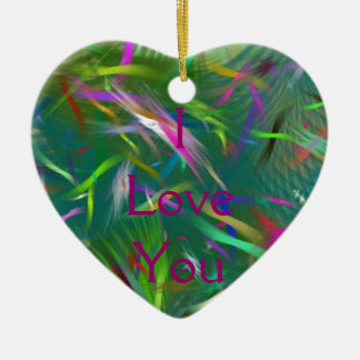 Summer Celebration Abstract Heart Ornament