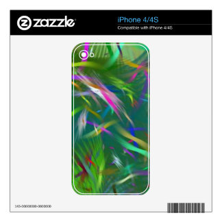 Summer Celebration Abstract iPhone 4/4S Skin Skin For iPhone 4S