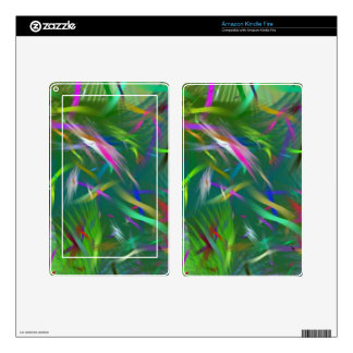 Summer Celebration Abstract Kindle Fire Skin