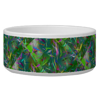 Summer Celebration Abstract Pet Bowl