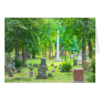 Summer Cemetery Card