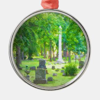 Summer Cemetery Metal Ornament