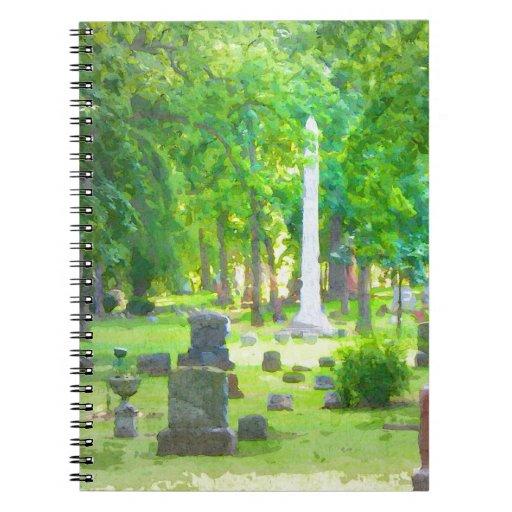 Summer Cemetery Spiral Note Books