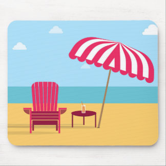 Summer chair beach mousepad