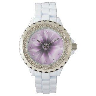 Summer Charm Women's Rhinestone White Enamel Watch