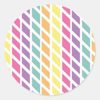 Summer Check Pattern Sticker
