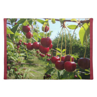 Summer Cherries Cloth Placemat