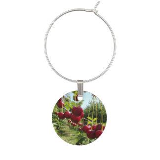 Summer Cherries Wine Charm