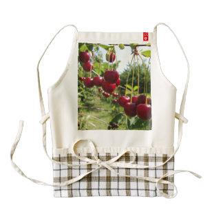 Summer Cherries Zazzle HEART Apron