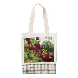 Summer Cherries Zazzle HEART Tote Bag