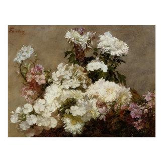 Summer Chrysanthemum & Larkspur by Henri Latour Postcard