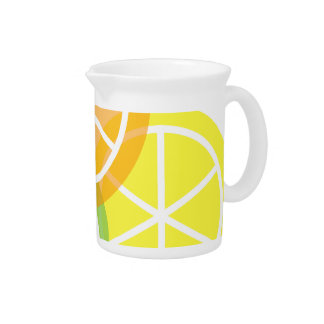 Summer Citrus Contemporary Beverage Pitcher