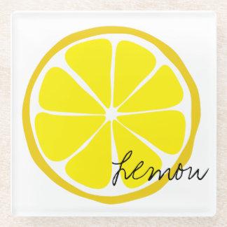 Summer Citrus Lemon Glass Coaster