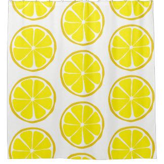 Summer Citrus Lemon Shower Curtain