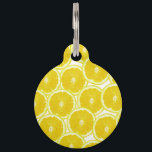 "Summer Citrus Lemon Slices Pet Name Tag<br><div class=""desc"">This summer citrus lemon slices pattern is perfect for the trendy and stylish foodie hipster. .</div>"