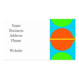 Summer Citrus Lime Green Orange Yellow Teal Circle Business Card