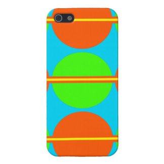 Summer Citrus Lime Green Orange Yellow Teal Circle Case For iPhone SE/5/5s