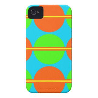 Summer Citrus Lime Green Orange Yellow Teal Circle iPhone 4 Case
