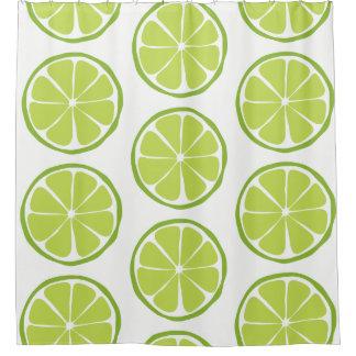 Summer Citrus Lime Shower Curtain