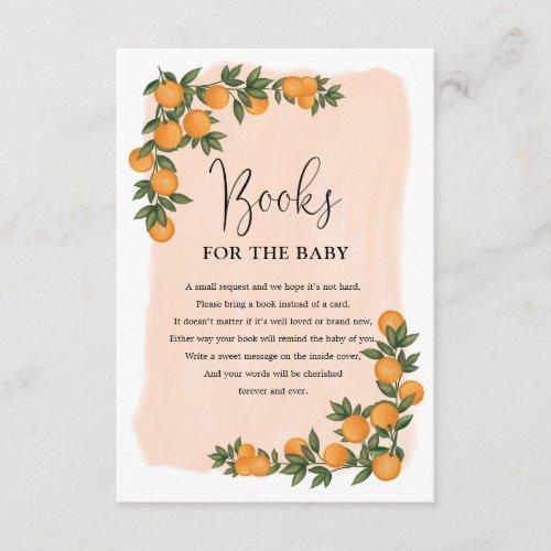 Summer Citrus Orange Greenery Books for Baby Enclosure Card
