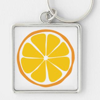 Summer Citrus Orange Keychain