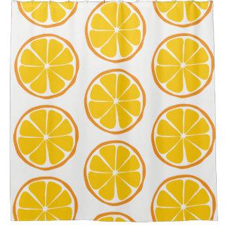 Summer Citrus Orange Shower Curtain