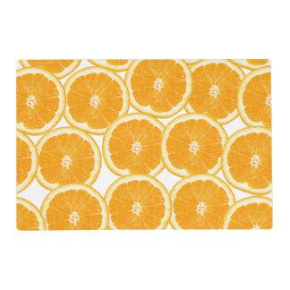 Summer Citrus Orange Slices Laminated Place Mat