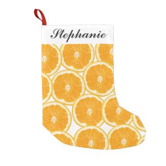 Summer Citrus Orange Slices Small Christmas Stocking