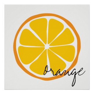 Summer Citrus Orange Wall Art