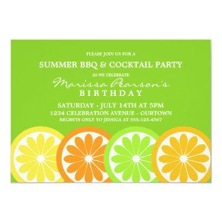 Summer Citrus Party Invitations