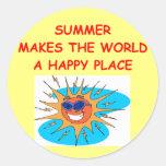 summer classic round sticker