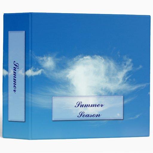 Summer Clouds 3 Ring Binders