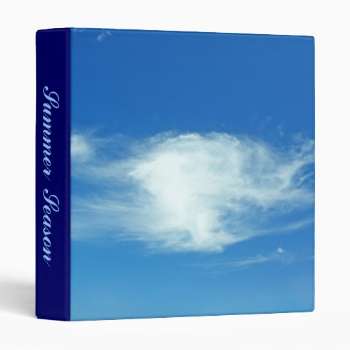 Summer Clouds Vinyl Binders