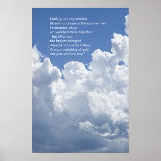Summer Clouds Poem Poster