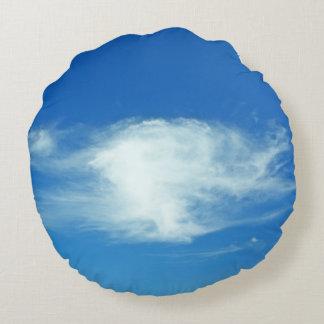 Summer Clouds Round Pillow