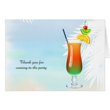 Beach Themed Summer Cocktail Card