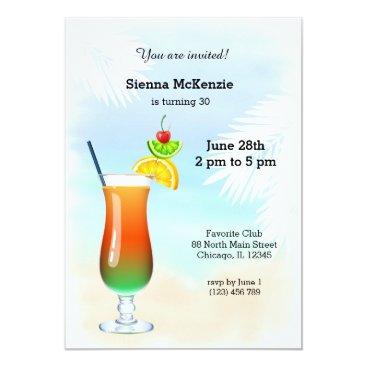 Beach Themed Summer Cocktail Card