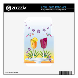 Summer Cocktail iPod Touch 4G Decal