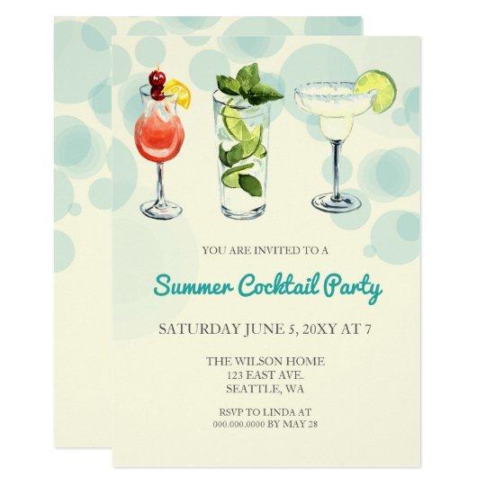 Summer Cocktail Party Invitations Zazzle Com