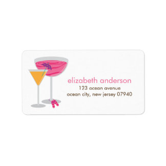Summer Cocktails Address Labels