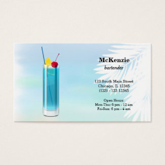 Summer Cocktails Business Card