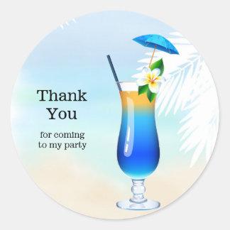 Summer Cocktails Classic Round Sticker