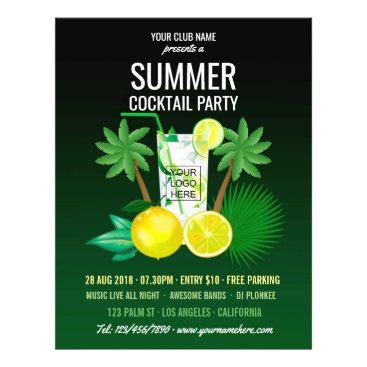 Beach Themed Summer Cocktails Club/Corporate Party add photo Flyer