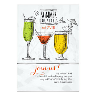 Summer Cocktails Invitation