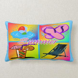 """Summer Collage 13""""x21"""" American MoJo Lumbar  Pillo Pillow"""