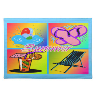 Summer Collage American MoJo Cloth Placemats