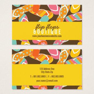 Summer Colorful Fun Beach Flip Flops Profile Card