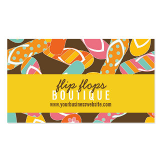 Summer Colorful Fun Beach Flip Flops Profile Card Double-Sided Standard Business Cards (Pack Of 100)